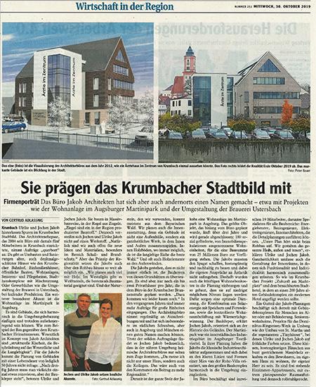 Zeitungsprofil in Mittelschwäbischer Zeitung